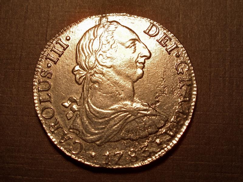 Real de a 8 Carlos III anverso