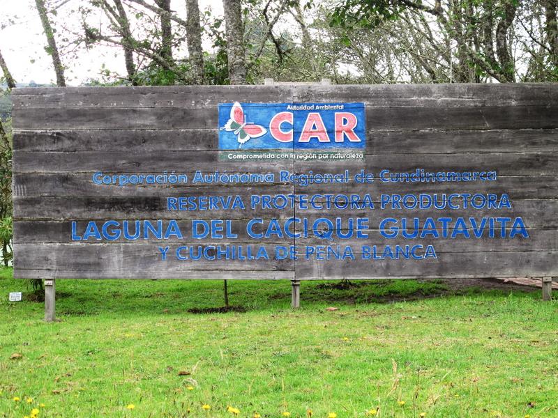 Entrada a la Reserva Forestal de Guatavita